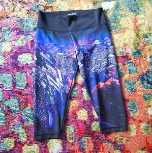 Adidas Tech fit workout printed capris